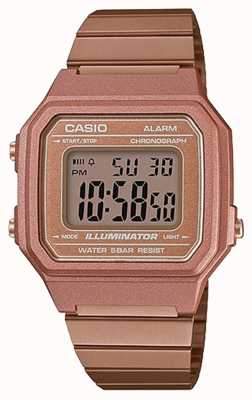 Casio Vintage core классический цифровой иллюминатор розовое золото B650WC-5AEF