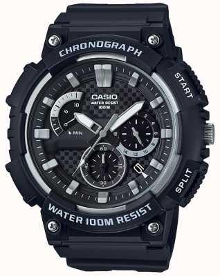 Casio Хронограф черный полимерный корпус черный полимерный ремешок индикация даты MCW-200H-1AVEF