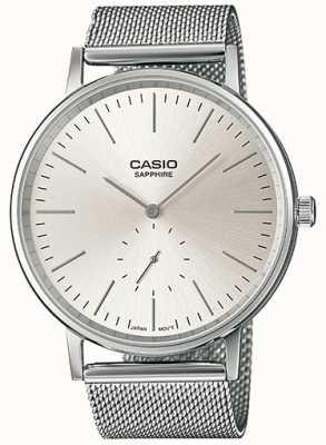 Casio Сапфировый сетчатый браслет из нержавеющей стали LTP-E148M-7AEF