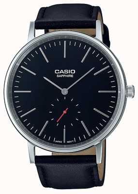 Casio Сапфировый черный черный ремень из натуральной кожи LTP-E148L-1AEF
