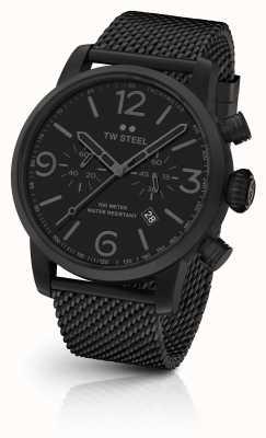 TW Steel Маверик калибр хронограф черный сетка браслет черный циферблат MB33
