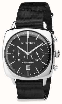 Briston Mens clubmaster старинный стальной хронограф черный текстиль 17140.PS.V.1.NB