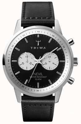 Triwa Черный хронограф с хромированной решеткой черного циферблата NEST118-SC010112