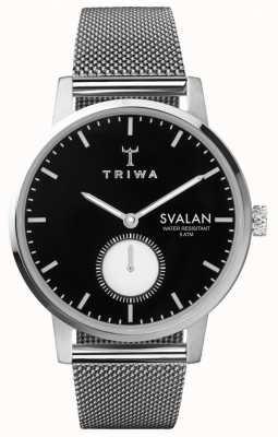 Triwa Браслет из нержавеющей стали из черного серебра черного цвета SVST103-MS121212