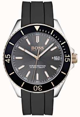Hugo Boss Океан издание серый набор даты дисплей черный резиновый ремешок 1513558