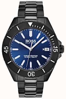 Hugo Boss Ocean Edition синий набор даты дисплей черный ip браслет 1513559
