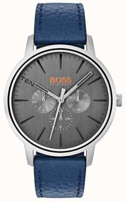 Hugo Boss Orange Серый набор день и дата подкадра синего кожаного ремешка 1550066