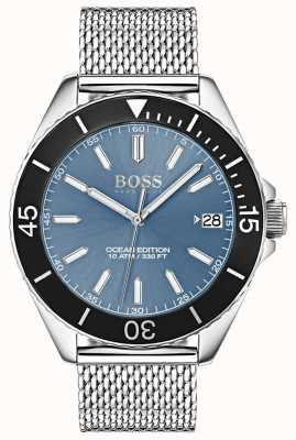 Hugo Boss Светло-синий циферблат черного цвета 1513561