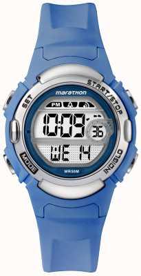 Timex Марафон цифровые спортивные часы светло-голубой ремешок TW5M14400
