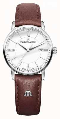 Maurice Lacroix Серебряные дилярии из коричневой кожи EL1094-SS001-110-1