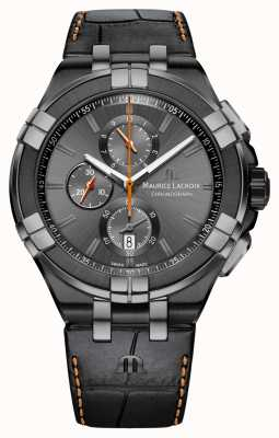 Maurice Lacroix Мужчина aikon chrono дата anthracite pvd case AI1018-PVB01-334-1
