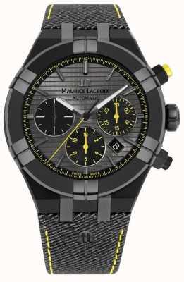 Maurice Lacroix Лимитированная серия aikon 'chase your watch' черный ремешок AI6018-PVB01-331-1