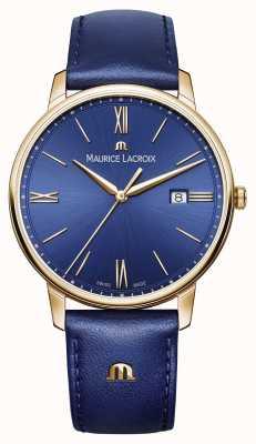 Maurice Lacroix Mens eliros позолоченный чехол синего циферблата EL1118-PVP01-411-1