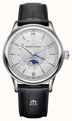 Maurice Lacroix Лёгкая классика мужская лунная фаза черный кожаный ремешок LC6168-SS001-120-1