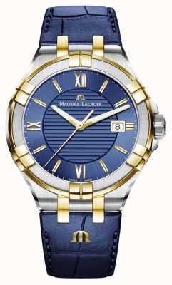 Maurice Lacroix Мужской aikon синий и золотой двухцветный кожаный ремешок AI1008-PVY11-432-1