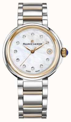 Maurice Lacroix Женская перламутровая жемчужина набрать двухцветный браслет FA1007-PVP13-170-1