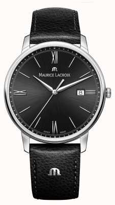 Maurice Lacroix Кожаный ремешок черного кожаного ремешка Mens eliros EL1118-SS001-310-1