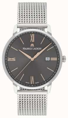 Maurice Lacroix Мужские браслеты из сетки eliros черный набор золотых акцентов EL1118-SS002-311-1