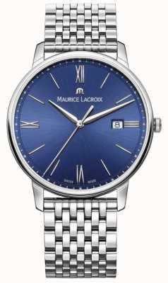 Maurice Lacroix Eliros мужской синий циферблат из нержавеющей стали браслет EL1118-SS002-410-2