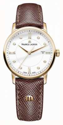 Maurice Lacroix Кожаный ремешок для женской кожи eliros позолоченный EL1094-PVP01-150-1