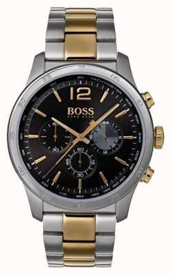 Hugo Boss Мужской профессиональный хронограф смотреть двухцветный браслет 1513529