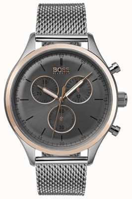 Hugo Boss Мужской сопутствующий хронограф смотреть серый 1513549