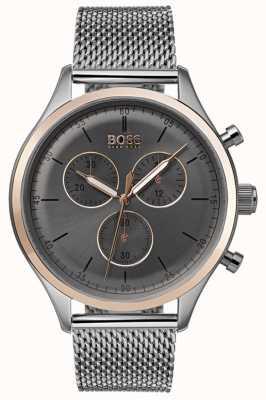Boss Мужской сопутствующий хронограф смотреть серый 1513549