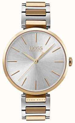 Boss Женские наручные часы двухцветные стальные 1502417