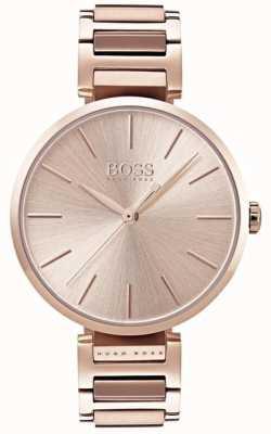 Boss Женские аллюзии часы розового золота тон 1502418