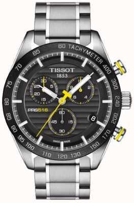 Tissot Mens prs 516 хронограф черный циферблат из нержавеющей стали браслет T1004171105100