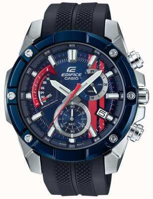 Casio Edifice торо россо резиновый ремешок синий циферблат EFR-559TRP-2AER