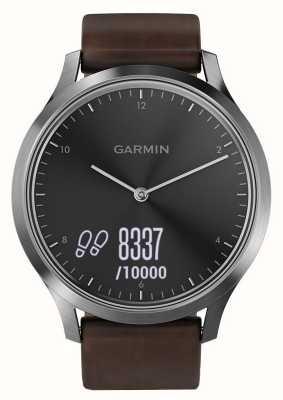Garmin Vivomove hr (большой) премиум деятельность трекер сталь / кожа 010-01850-04