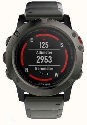 Garmin Fenix 5x серого сапфирового металла (включая черный спортивный ремень) 010-01733-03