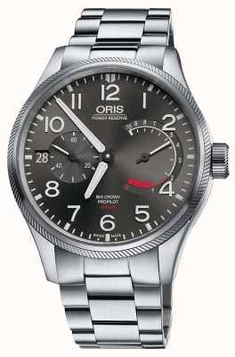 Oris Большой браслет из перламутрового браслета 111 из нержавеющей стали 01 111 7711 4163-SET 8 22 19