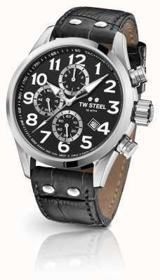 TW Steel Volante 48mm хронограф черный кожаный ремешок VS54