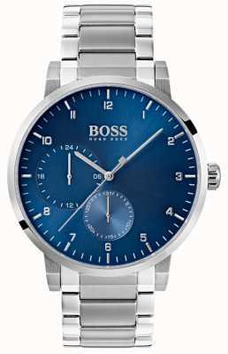 Boss Мужские часы из нержавеющей стали с кислородным синим браслетом 1513597