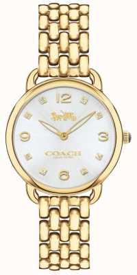 Coach Серебряный циферблат часов браслета с золотым тиснением 14502782
