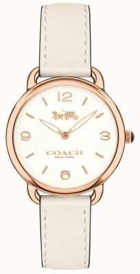 Coach Женщин delancey тонкий белый кожаный ремешок смотреть белый циферблат 14502790