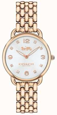 Coach Серебряный циферблат часов с бриллиантами 14502783