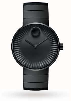 Movado Мужские часы с покрытием из черной стали 3680007