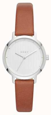 DKNY Женщин модернистских часов коричневого кожаного ремешка NY2676