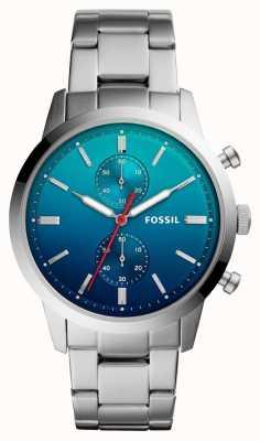 Fossil Мужские горожане смотрят синий браслет из нержавеющей стали браслет из нержавеющей стали FS5434