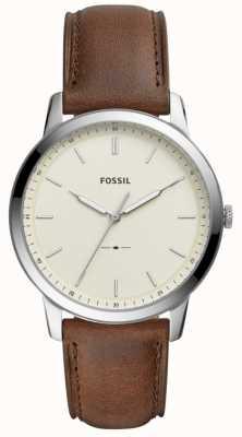 Fossil Мужские минималистские коричневые кожаные ремешки FS5439