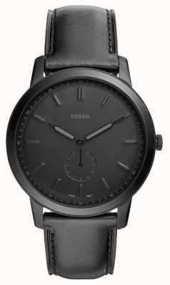 Fossil Мужские минималистские черные кожаные ремешки FS5447
