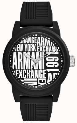 Armani Exchange Мужской силиконовый ремешок AX1443