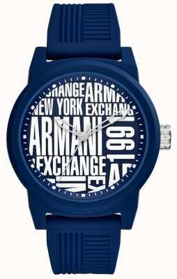Armani Exchange Мужской силиконовый ремешок AX1444