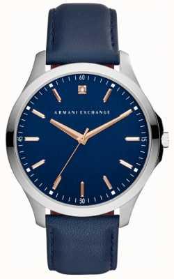 Armani Exchange Мужской кожаный ремешок AX2406