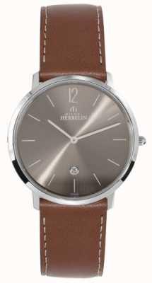 Michel Herbelin Мужская нержавеющая сталь ikone темно-серый циферблат 19515/27GO