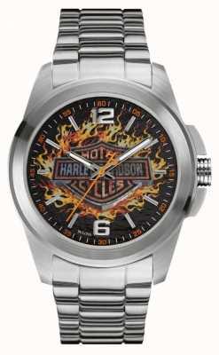 Harley Davidson Плавный логотип для печати на колесах из нержавеющей стали и браслета 76A147