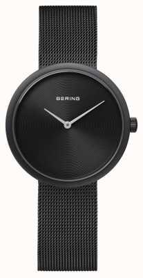 Bering Классический матовый черный черный сетчатый ремешок 14333-222